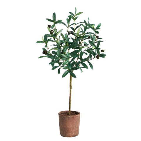 """31"""" Olive Artificial Tree - 6"""""""