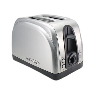 Brentwood Ts-225S 2-Slice Elegant Toaster With Brushed Stainless Steel Finish