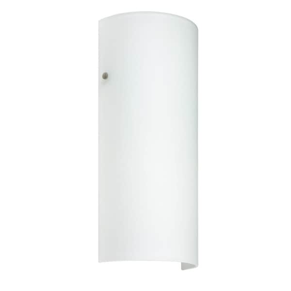 Shop besa lighting 819207 led torre 1 light ada compliant led wall besa lighting 819207 led torre 1 light ada compliant led wall sconce with white glass aloadofball Image collections