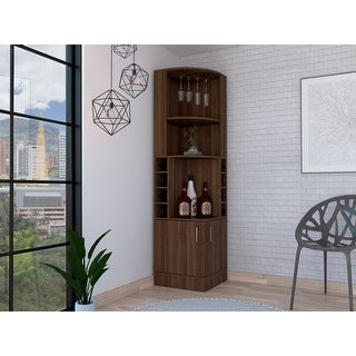 Link to Copper Grove Tumanyan Corner Bar Cabinet - N/A Similar Items in Kitchen Storage