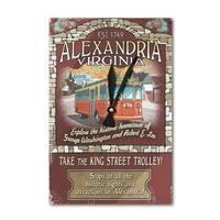 Alexandria, VA - Trolley Vintage Sign - LP Artwork (Acrylic Wall Clock) - acrylic wall clock