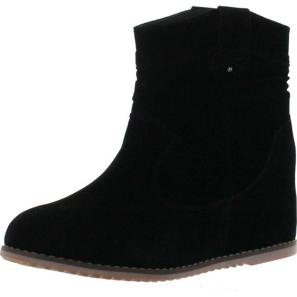 Bonnibel Dexel-1 Women's Slouchy Ankle Boots With Hidden Heels