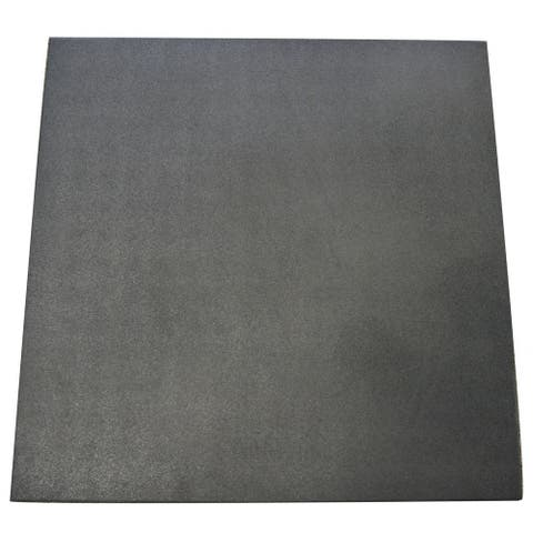 """Rubber-Cal """"Eco-Sport"""" 3/4-inch Interlocking Rubber Tiles - 3/4 in x 20 in x 20 in - 10 Pack, 28 Sqr/Ft - Coal - 20 x 20"""