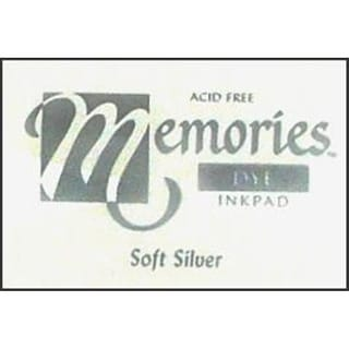 S Superior Memories Dye Inkpad Lg Soft Silver