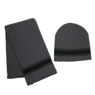 CTM® Boys' 2-4 Striped Hat and Scarf Set - One size