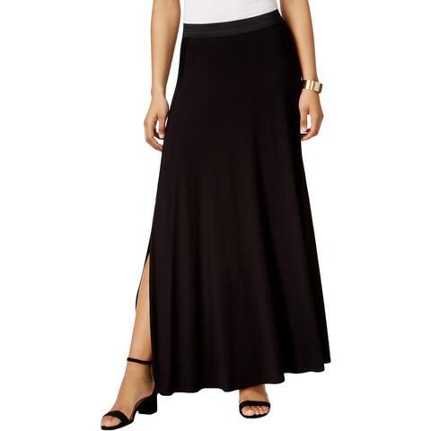 ECI New York Womens Maxi Skirt Side Slit Long Length