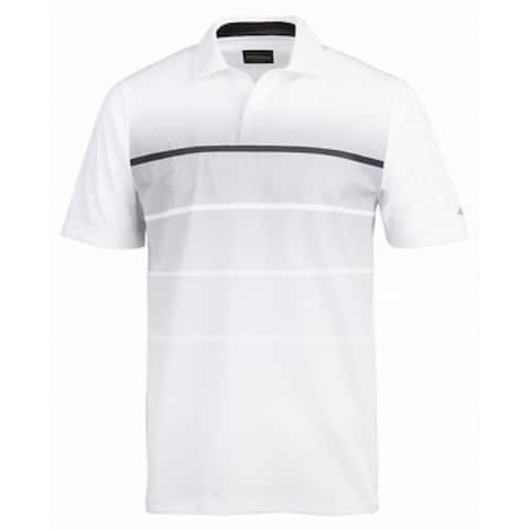 f4b5f05d5 Greg Norman White Mens Size 2XL Stripe Perforated Polo Rugby Shirt