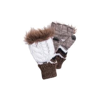 Muk Luks Gloves Womens Fingerless Flip Top Mittens One Size 0034346 - One size