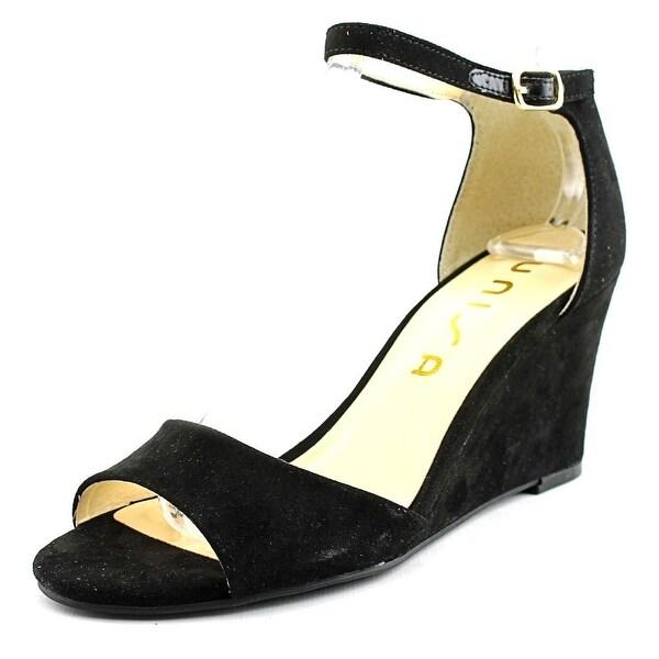 Unisa Yeavett Women Open Toe Canvas Black Sandals