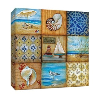 "PTM Images 9-146882  PTM Canvas Collection 12"" x 12"" - ""Beach Scenes"" Giclee Beaches and Shells Art Print on Canvas"