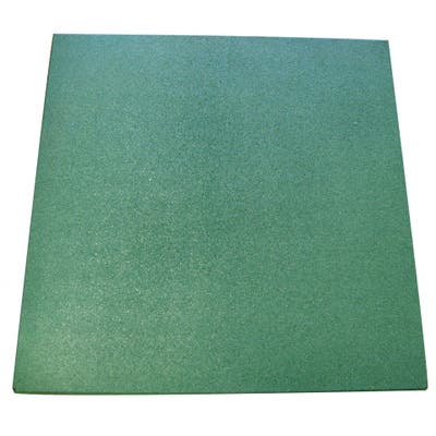 """Rubber-Cal """"Eco-Sport"""" 3/4-inch Interlocking Rubber Tiles - 3/4 in x 20 in x 20 in - 10 Pack, 28 Sqr/Ft - Green - 20 x 20"""