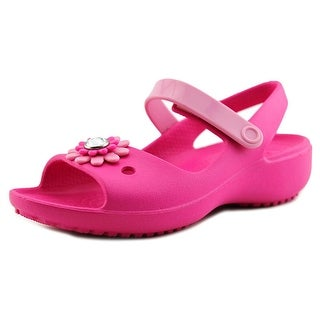 Crocs Keeley Mini Wedge Youth Open-Toe Synthetic Pink Mary Janes