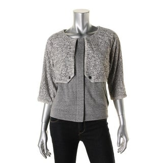 Rachel Rachel Roy Womens French Terry Lace Basic Jacket