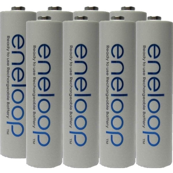 Eneloop Panasonic AAA New 2100 Cycle Rechargeable Batteries- 8 pack