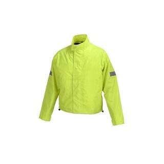 Overstock Motorcycle Biker Road Rain Jacket Neon Green RJ1-1