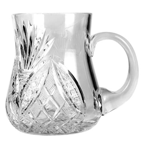 Neman Glassworks Crystal Cut High-End Beer Glass / Mug