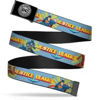Dc Originals Reverse Brushed Silver Cam Justice League Superhero Web Belt