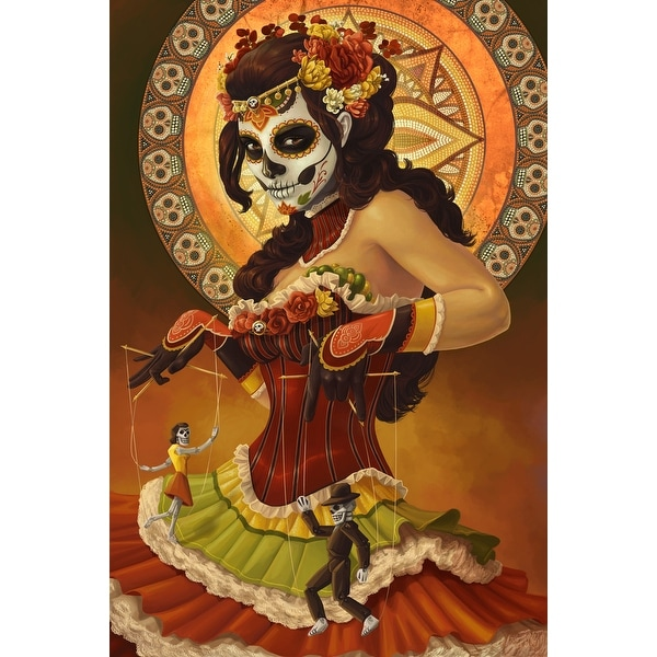 Marionettes - Day of the Dead - LP Artwork (Acrylic Wall Clock)