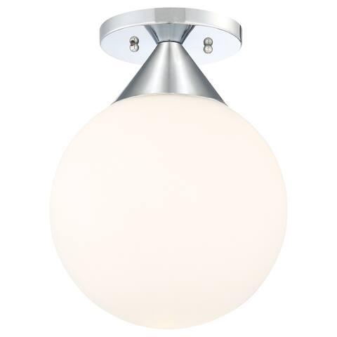 Simple Chrome 1 Light Flush Mountby George Kovacs
