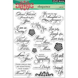 """Eloquence - Penny Black Clear Stamps 5""""X6.5"""" Sheet"""