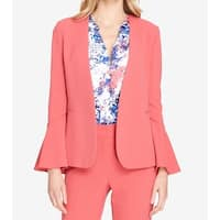 Tahari by ASL Coral Pink Women's Size 8 Bell Sleeve Blazer Jacket