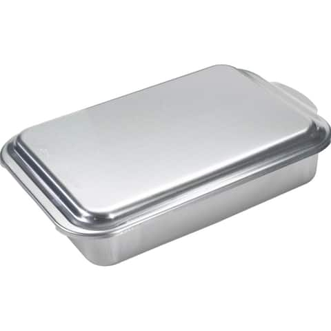 "Mirro 84975 Aluminum Cake Pan with High Dome Cover, 13"" x 9"" x 3-1/2"""