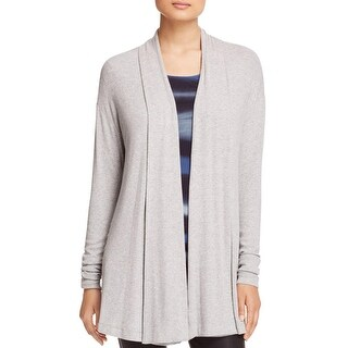 Three Dots Womens Cardigan Top Viscose Ribbed