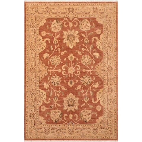 """Shabby Chic Ziegler Caterina Hand Knotted Area Rug -7'11"""" x 9'2"""" - 7 ft. 11 in. X 9 ft. 2 in."""