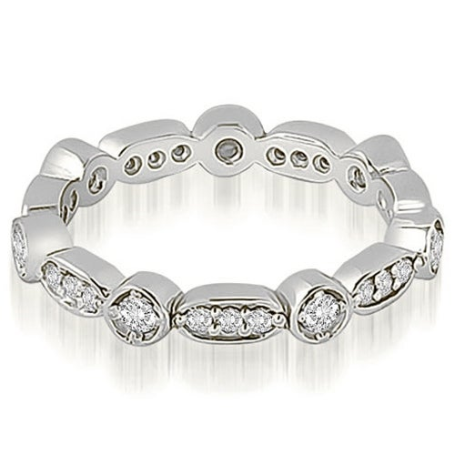 0.40 cttw. 14K White Gold Round Diamond Eternity Ring
