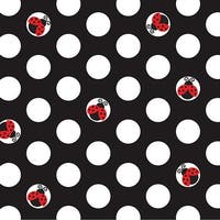 16 Pack Beverage Napkins Ladybug Fancy - Multi