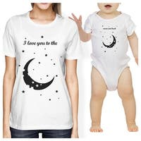 Moon And Back Mom and Baby Matching Gift T-Shirts For Mothers Day