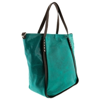 HS 5196 VR CECI Leather Shopper/Tote Bag - Green - 12-14-6