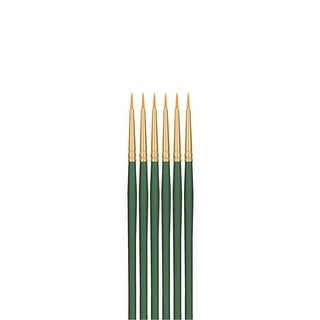 Sax Optimum Golden Synthetic Taklon Paint Brushes, Round, Size 1, Pack of 6