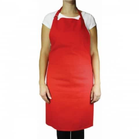 "Mukitchen 6002-0906 Chefs Cotton Apron, Crimson Red, 35"""