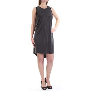 RACHEL ROY Womens Black Sleeveless Jewel Neck Knee Length Dress  Size: M