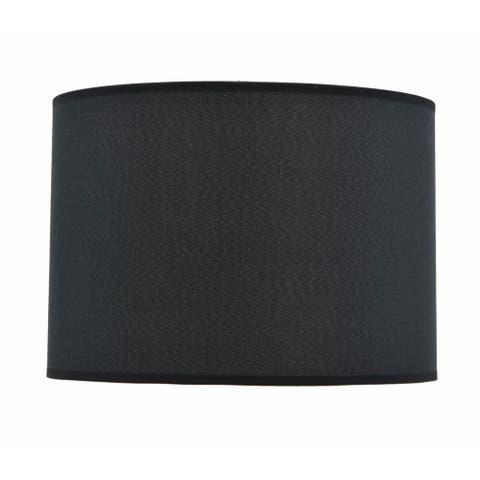 "Aspen Creative Hardback Empire Shape Spider Construction Lamp Shade in Black (14"" x 14"" x 10"")"