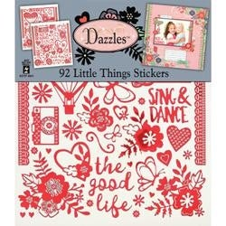 """Little Things - Dazzles Stickers 7.75""""X9"""" 2/Pkg"""