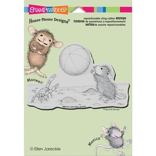 """Stampendous House Mouse Cling Stamp 5.5""""X4.5"""" -Beach Toss"""