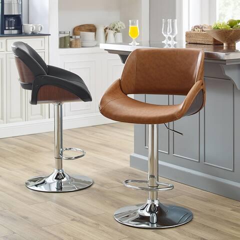 Art Leon Modern Swivel Barstool with Chrome Base - N/A