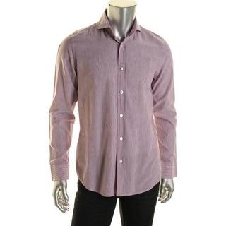 BOSS Hugo Boss Mens Sean 1 Striped Regular Fit Button-Down Shirt - XL