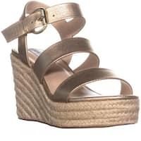 Steve Madden Valery Platform Wedge Sandals, Gold