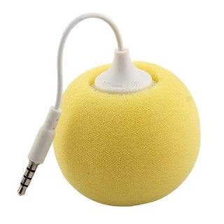 Portable 3.5mm Audio Jack Music Player Speaker Yellow for Phone Laptop PC