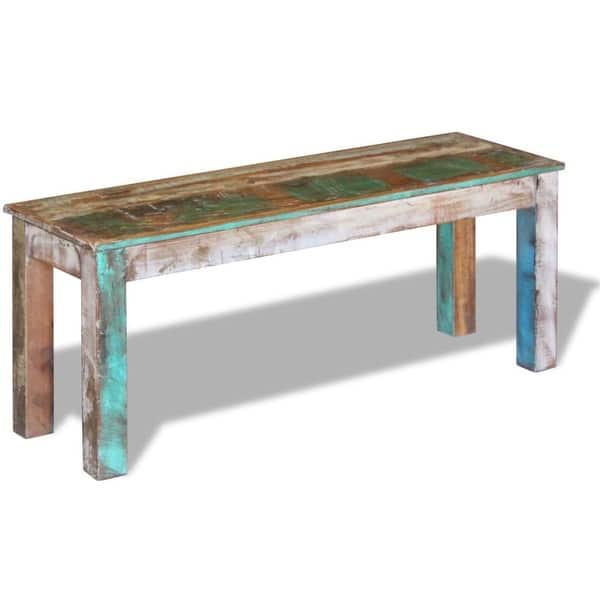 Enjoyable Shop Vidaxl Solid Reclaimed Wood Bench Dining Seats Home Onthecornerstone Fun Painted Chair Ideas Images Onthecornerstoneorg