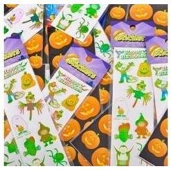 Lot Of 1200 Assorted Halloween Design 12 Stickers Per Sheet - 100 Sheets