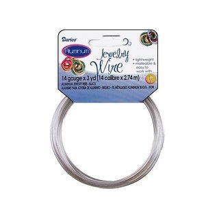 Darice Jewelry Wire Aluminum 14Ga 3yd Silver
