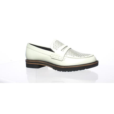Dolce Vita Womens Aidan Off White Loafers Size 6