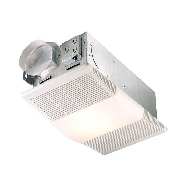 NuTone 665RP 70 CFM 4 Sone Ceiling Mounted HVI Certified Bath Fan with Heater and Light - White