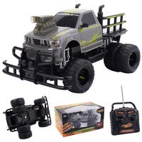 Costway 1/10 4CH RC Monster Truck Electric Remote Control Off-road Car All Terrain Toy - grey