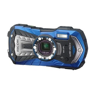 RICOH Waterproof digital camera RICOH WG-40 Blue (International Model)