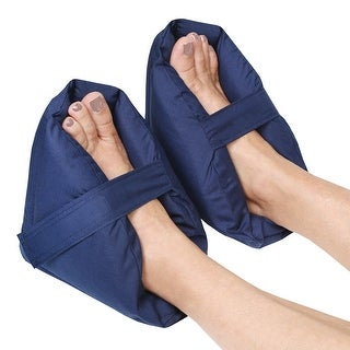 Plush Foot Pillows - Heel Protectors Cushions Pain Relief - 1 Pair - Navy